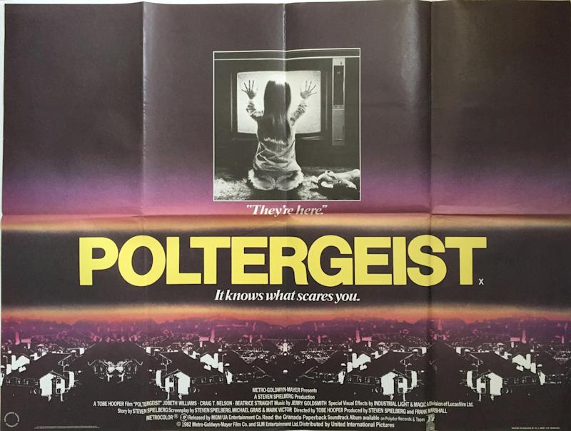 An original poster for Poltergeist