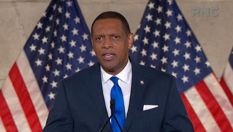 Vernon Jones speaks during the virtual Republican National Convention on August 24, 2020. (via Reuters TV)