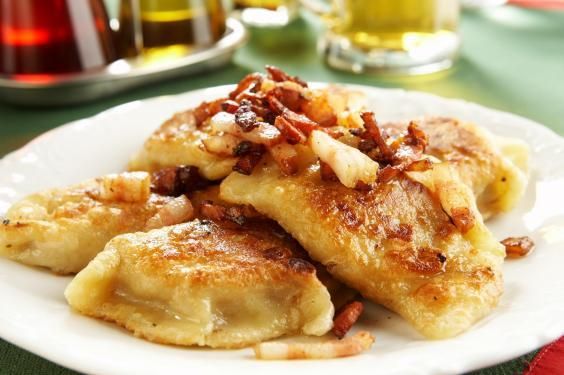 Pierogi are a traditional part of the 12-course meal in Poland (Stock)