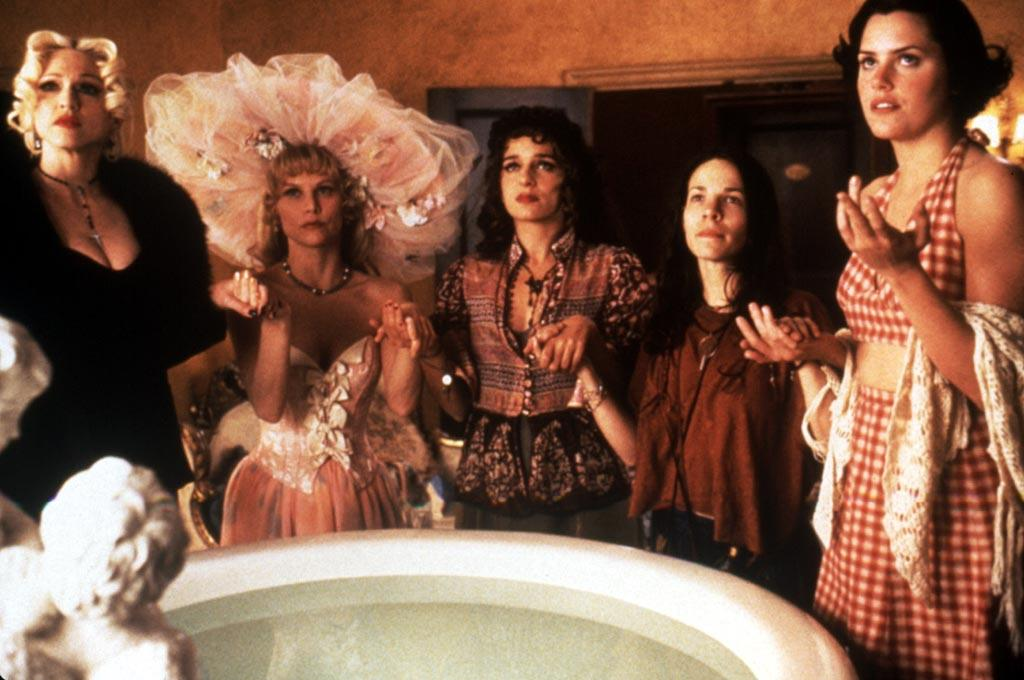 """<a href=""""http://movies.yahoo.com/movie/1800252065/info"""">FOUR ROOMS</a>  Box Office: $4,301,331   In this omnibus flick featuring some of the hippest directors of the '90s, Madonna played a witch looking to seduce Ted the bellhop for her own dark, creepy purposes."""