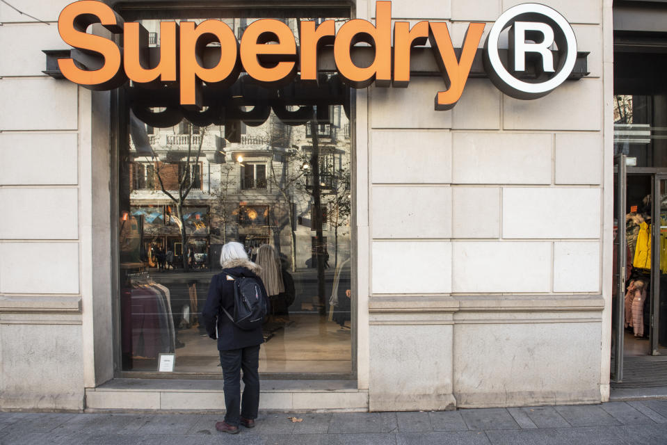 SPAIN - 2020/01/09: British clothing brand Superdry store seen in Spain. (Photo by Budrul Chukrut/SOPA Images/LightRocket via Getty Images)