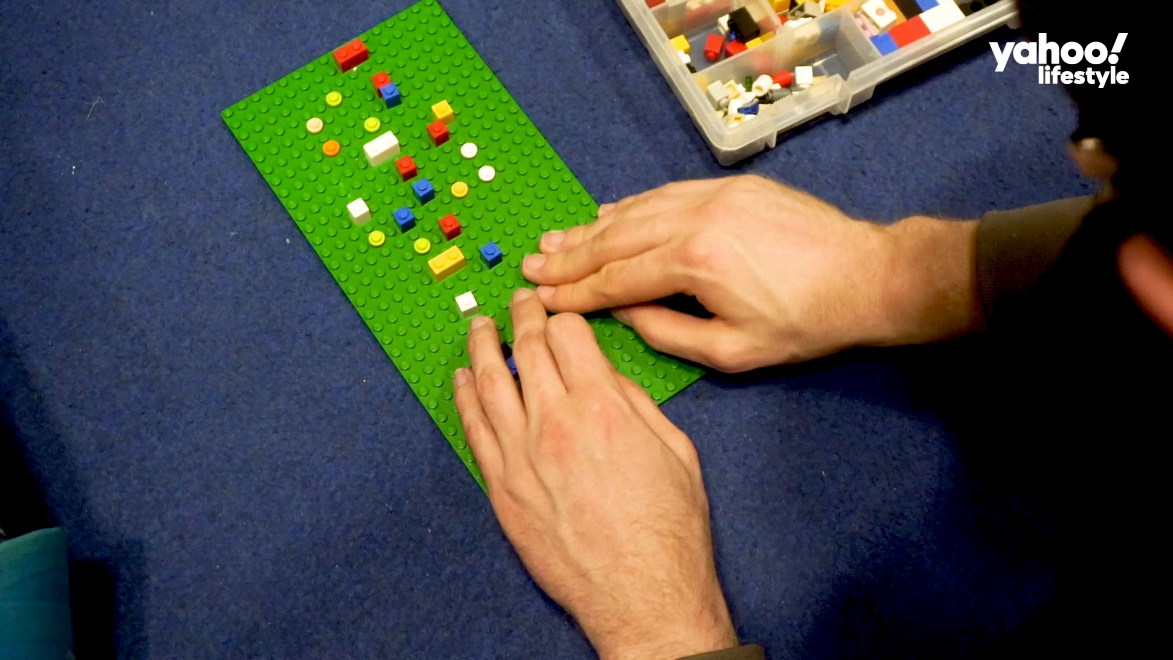 Shifrin prepares for his climb by using a LEGO representation of the route.