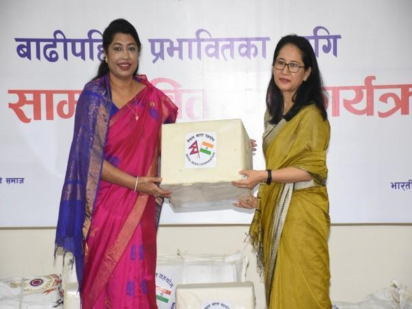 India hands over flood, landslide relief material to Nepal