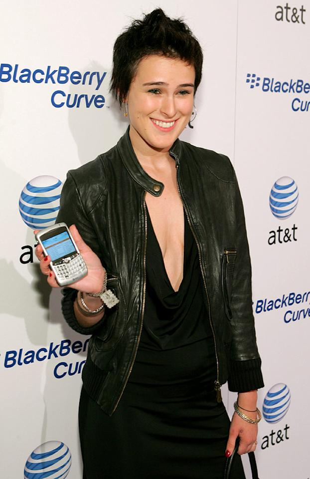 "Rumer Willis looks like she borrowed her dad's 80s leather bomber at the AT&T Launch Party. John Shearer/<a href=""http://www.wireimage.com"" target=""new"">WireImage.com</a> - May 31, 2007"