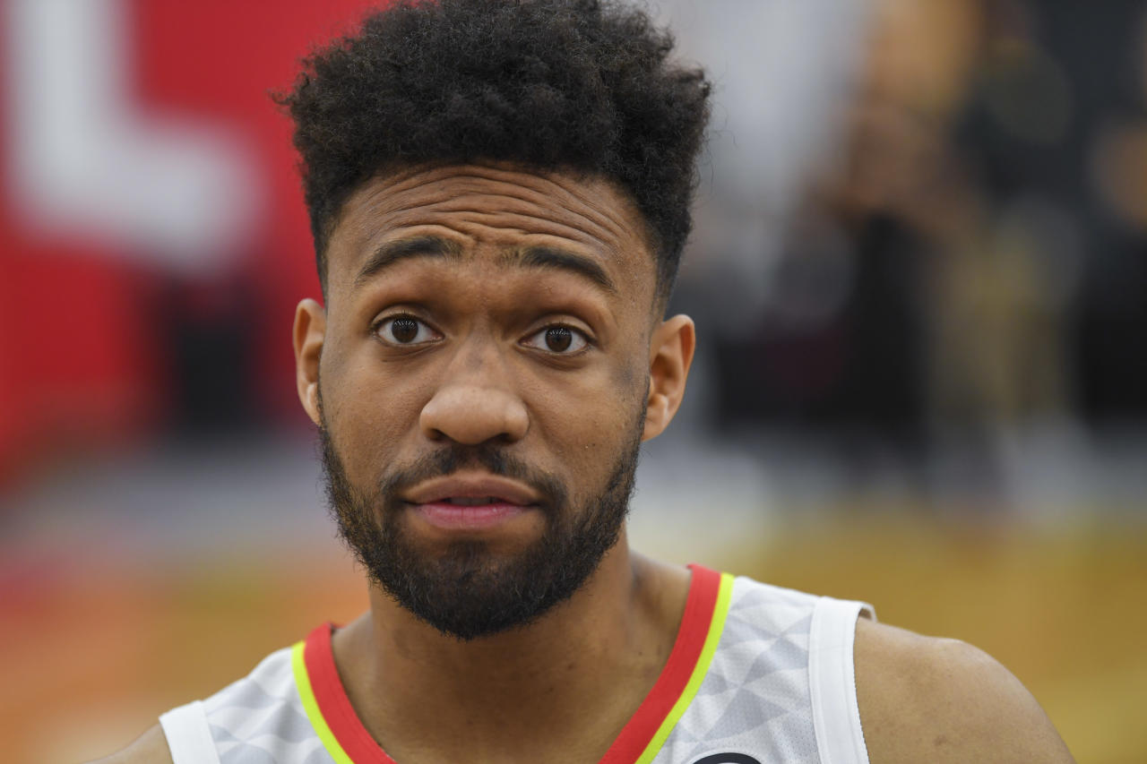 """Wait, I""m on the Atlanta Hawks now?"" — Jabari Parker, probably"