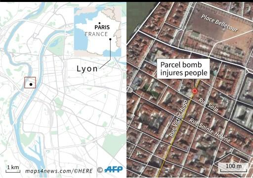 Several hurt in package bomb blast in France's Lyon