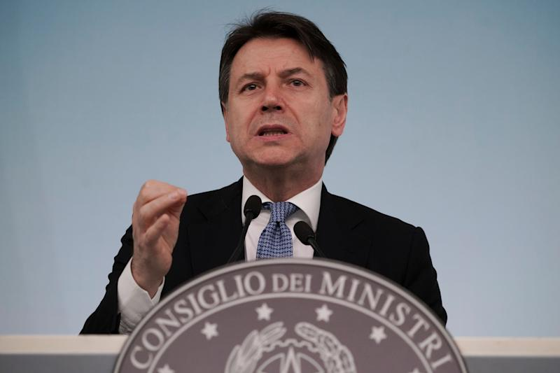 Italian Premier Giuseppe Conte speaks during a press conference on economic measures to help facing consequences of the virus outbreak, in Rome, Thursday, March 5, 2020. (AP Photo/Andrew Medichini) (Photo: ASSOCIATED PRESS)