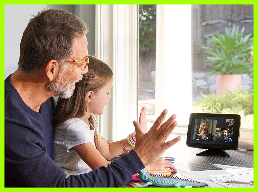 Easily connect with family and friends via the Echo Show 8. (Photo: Amazon)