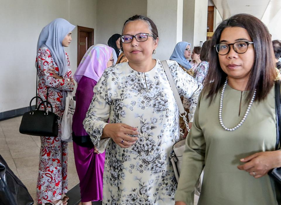 SIS executive director Rozana Isa is pictured at the Kuala Lumpur Courts Complex August 27, 2019. — Picture by Firdaus Latif