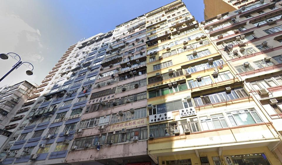 A flat inside this building on Nathan Road played host last month to what is believed to be the biggest robbery in Hong Kong history. Photo: Google Maps