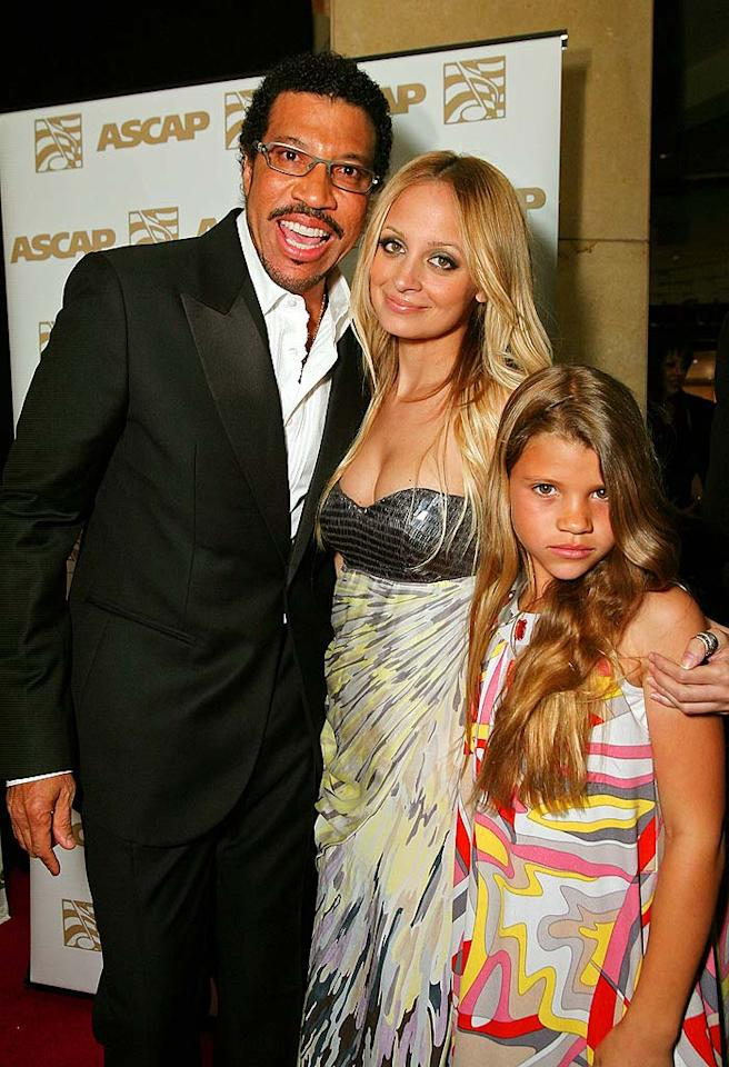 "Lionel Richie's daughters Nicole and Sophia support him at the ASCAP's 25th Annual Pop Music Awards at the Kodak Theatre in Hollywood. The singer was presented with the ASCAP Golden Note Award for having achieved extraordinary career milestones. Alexandra Wyman/<a href=""http://www.wireimage.com"" target=""new"">WireImage.com</a> - April 9, 2008"