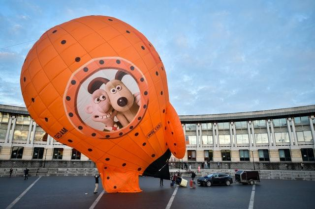 Wallace and Gromit's Moon Rocket balloon