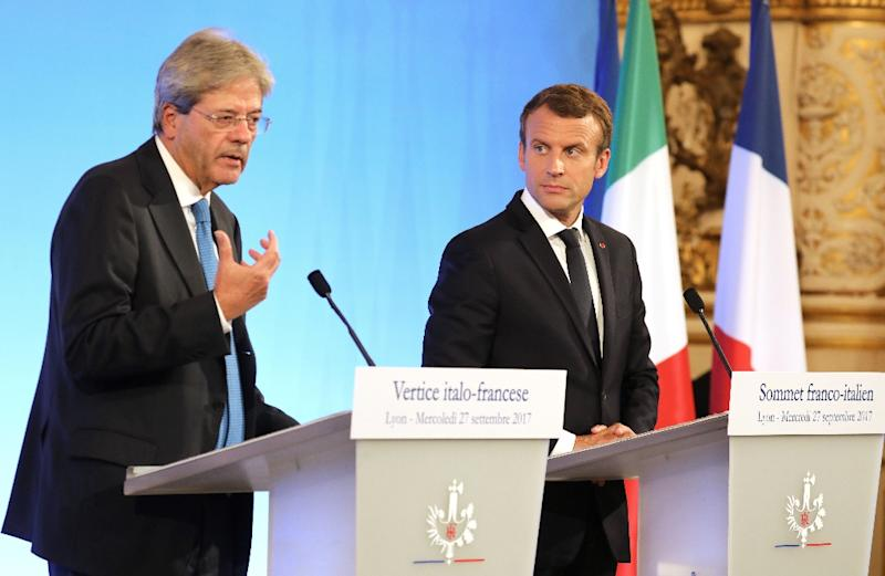 Leaders of France, Italy announce shipyard deal