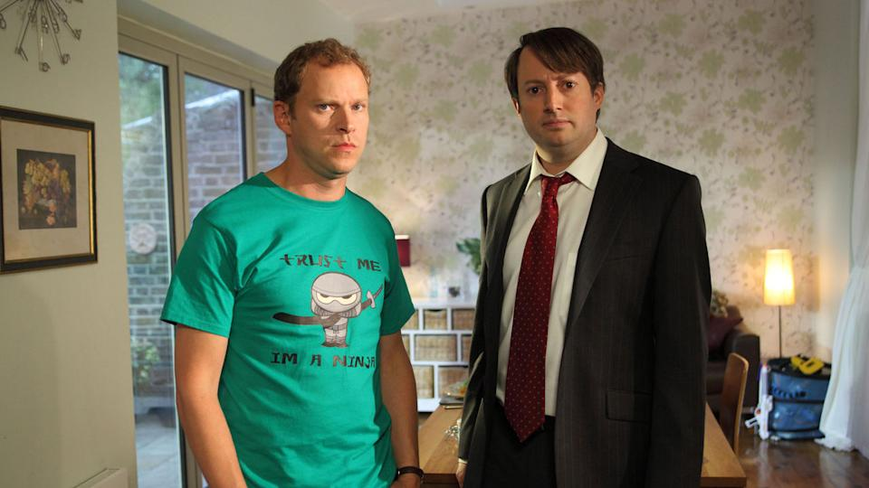 Robert Webb and David Mitchell were the stars of Channel 4's delightfully awkward sitcom 'Peep Show'. (Credit: Channel 4)
