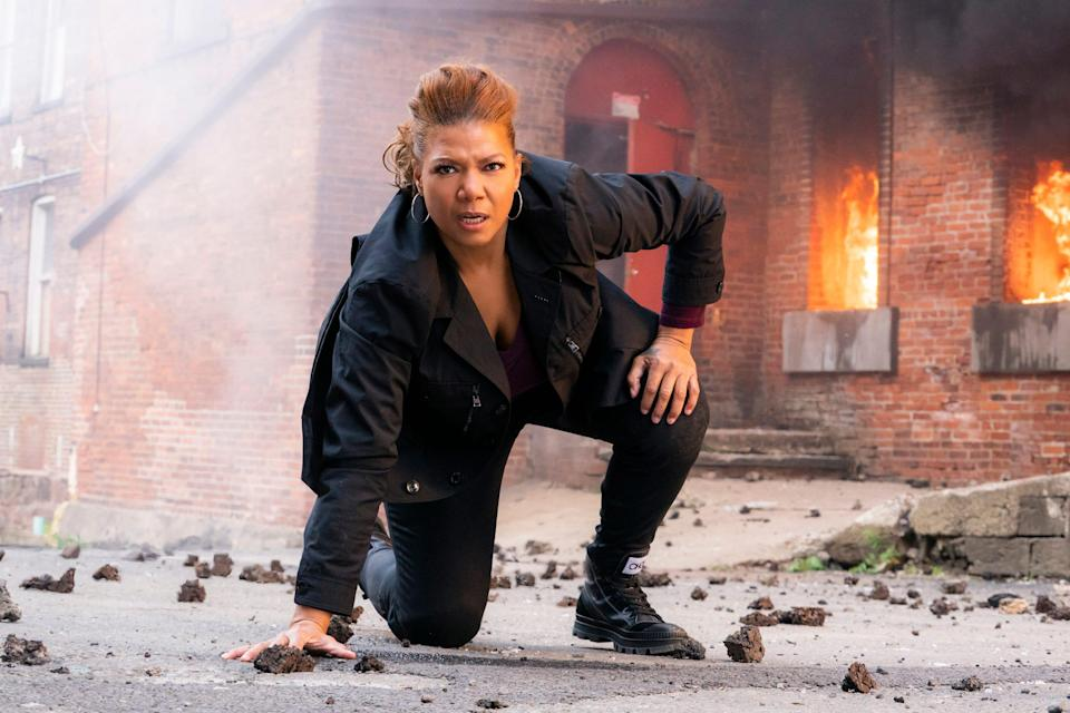 """Queen Latifah as Robyn McCall in """"The Equalizer,"""" which benefited from a post-Super Bowl premiere and was quickly renewed for a second season."""