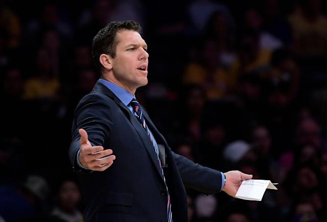 "Luke Walton will be the next head coach of the <a class=""link rapid-noclick-resp"" href=""/nba/teams/sacramento/"" data-ylk=""slk:Sacramento Kings"">Sacramento Kings</a>. (AP Photo/Mark J. Terrill)"