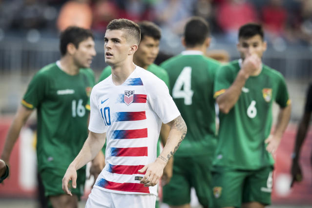 The United States' young future core looked good against Bolivia, but there's much more work ahead for Christian Pulisic and company. (Getty)
