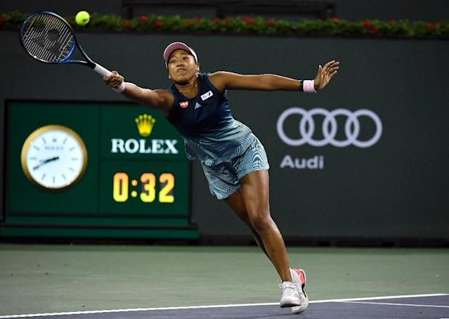 Japan's world number one Naomi Osaka launches her Indian Wells WTA title defense with a second-round victory over Kristina Mladenovic of France (AFP Photo/KEVORK DJANSEZIAN)