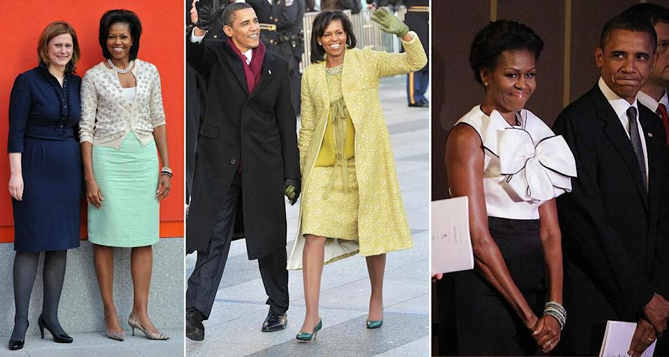 Michelle Obama wore a lot of J.Crew during the Obama White House years. (Photo: Getty Images)
