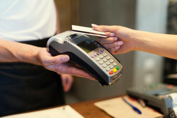 credit card payment on counter