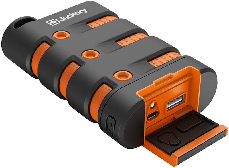 The Jackery Armor Waterproof Power Bank is now 37 percent off. (Photo: Amazon)
