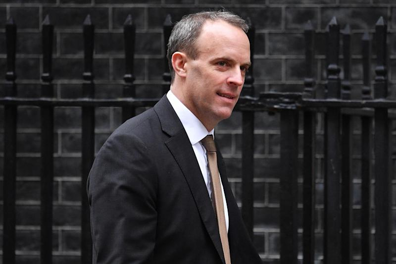 Dominic Raab will meet the US secretary of state on Wednesday (Getty Images)