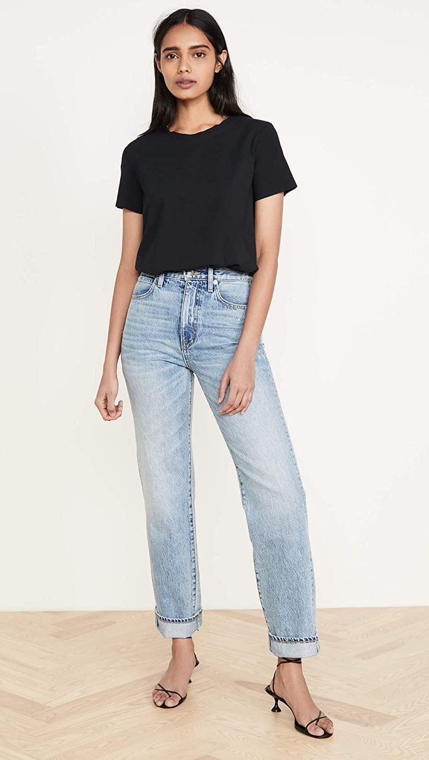 <p>While this <span>Commando Women's Essential Cotton Crew Neck Bodysuit</span> ($53-$88) looks like a tee, its bodysuit bottom means you'll always get the perfect tuck.</p>