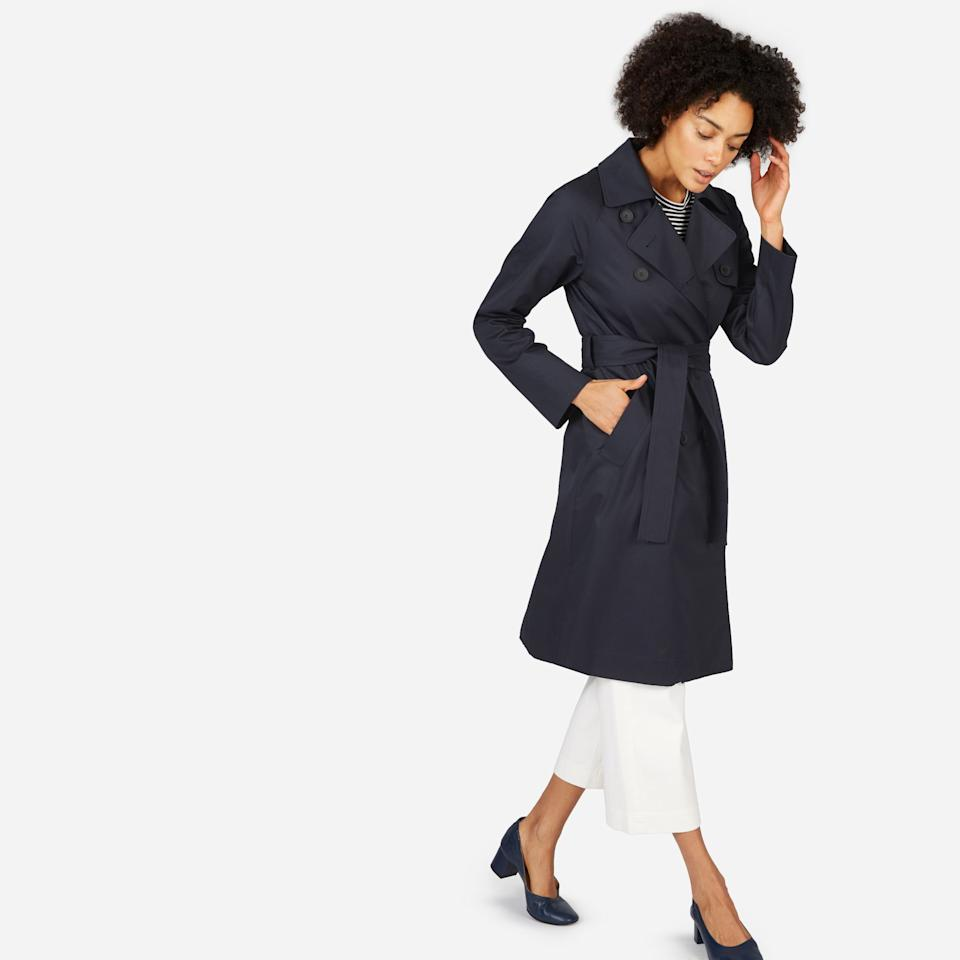 """<h3><a href=""""https://www.everlane.com/products/womens-modern-trench-coat-navy"""" rel=""""nofollow noopener"""" target=""""_blank"""" data-ylk=""""slk:Everlane Trench Coat"""" class=""""link rapid-noclick-resp"""">Everlane Trench Coat</a> </h3><br><br>""""Virgos have a casually sexy fashion sense,"""" says Caitlin McGarry. """"They love good quality, neutral colored pieces like a trench coat for the fall.""""<br><br><strong>Everlane</strong> The Drape Trench Coat , $, available at <a href=""""https://go.skimresources.com/?id=30283X879131&url=https%3A%2F%2Fwww.everlane.com%2Fproducts%2Fwomens-modern-trench-coat-navy"""" rel=""""nofollow noopener"""" target=""""_blank"""" data-ylk=""""slk:Everlane"""" class=""""link rapid-noclick-resp"""">Everlane</a>"""