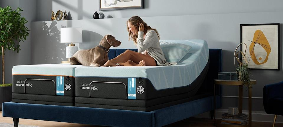 """<h2>Tempur-pedic</h2><br><strong>Sale:</strong> $500 off Tempur-Breeze<br><strong>Promo Code:</strong> None<br><strong>Dates:</strong> Now - Limited Time<br><br><em>Shop <strong><a href=""""http://tempurpedic.com"""" rel=""""nofollow noopener"""" target=""""_blank"""" data-ylk=""""slk:Tempur-pedic"""" class=""""link rapid-noclick-resp"""">Tempur-pedic</a></strong></em><br><br><strong>Tempur-Pedic</strong> TEMPUR-breeze°, $, available at <a href=""""https://go.skimresources.com/?id=30283X879131&url=https%3A%2F%2Fwww.tempurpedic.com%2Fshop-mattresses%2Ftempur-breeze%2Fv%2F3058%2F"""" rel=""""nofollow noopener"""" target=""""_blank"""" data-ylk=""""slk:Tempur-Pedic"""" class=""""link rapid-noclick-resp"""">Tempur-Pedic</a>"""