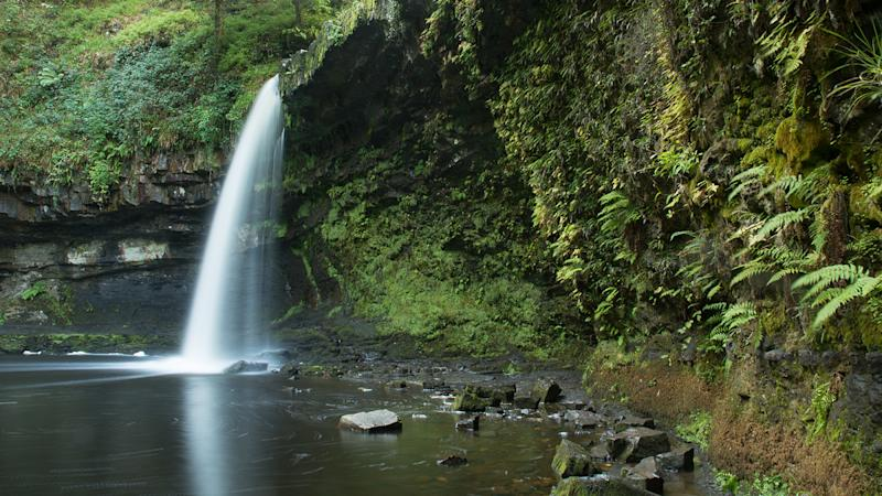 The waterfall in Wales on the Afon Pyrddin known as Sgwd Gwladys or Lady Falls