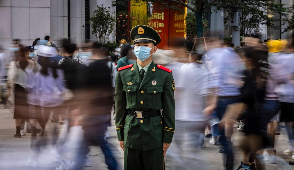 <p>File image: A representative image of a member of People's Liberation Army (PLA) of China</p> (EPA)
