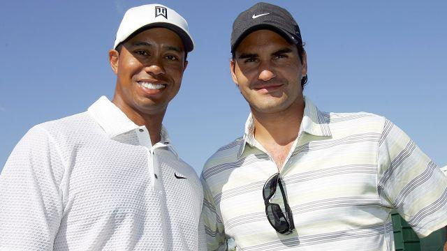 Tiger and Federer in 2007. Image: Getty