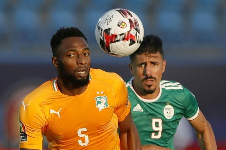 Ivory Coast international Wilfried Kanon (L) was among the scorers as Pyramids of Egypt routed Nouadhibou of Mauritania 6-0 in the CAF Confederation Cup