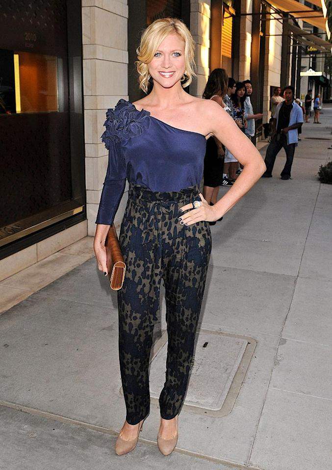 """Hairspray's"" Brittany Snow delivered a fashion no-no in this lacy, ruffled wreck upon arriving at a swanky cocktail party at the Louis Vuitton flagship in Beverly Hills. Jean Baptiste Lacroix/<a href=""http://www.wireimage.com"" target=""new"">WireImage.com</a> - July 13, 2010"