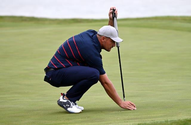 DeChambeau was unhappy at being made to putt