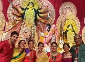 Rani Mukerji, Ayan Mukerji reunite with family for Durga Puja