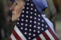 Florence Banaszak attends a campaign rally for Republican presidential candidate, former Pennsylvania Sen. Rick Santorum held at the National Railroad Museum in Green Bay, Wis., Sunday, April 1, 2012. (AP Photo/Jae C. Hong)