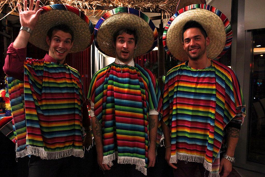 "Elliot Wronski, Jon Gray, and Jason ""JROC"" Craig in ""Bachelorette Party Las Vegas."""