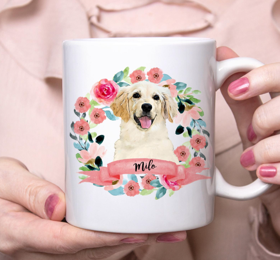 Custom Dog Portrait Coffee Mug (Photo via Etsy)