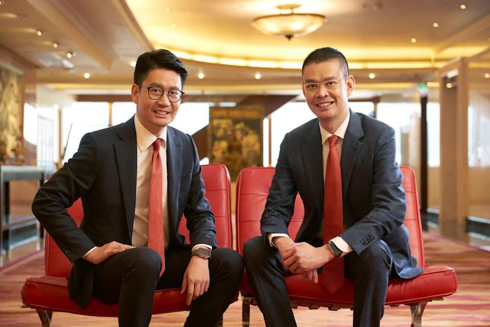 Adrian Li Man-kiu (right) and Brian Li Man-bun (left) became co-chief executives of the Bank of East Asia from July 2019. Photo: Handout