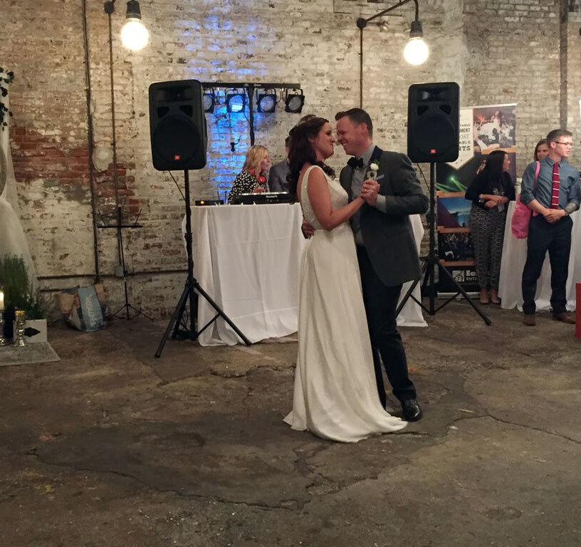 """<p>Even a fake wedding needs a first dance. After the ceremony, guests dance throughand peruse the """"Tunnel of Love,"""" where vendors display inspiration for brides of any budget — even DIYers. It's like a real-life Pinterest board, filled with the up-and-coming trends in the wedding industry.</p>"""