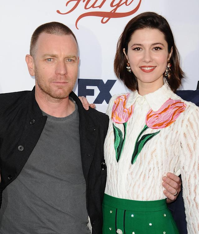 Ewan McGregor and Mary Elizabeth Winstead attends the <em>Fargo</em> For Your Consideration event at Saban Media Center on May 11, 2017, in Hollywood. (Photo: Getty Images)