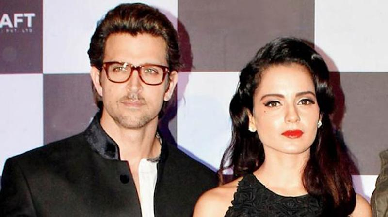 Hrithik Roshan and Kangana Ranaut. (Photo Credits: Twitter)