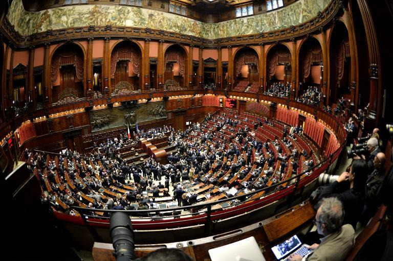 The Italian Parliament in Rome on January 29, 2015, at the start of a vote to select a new president