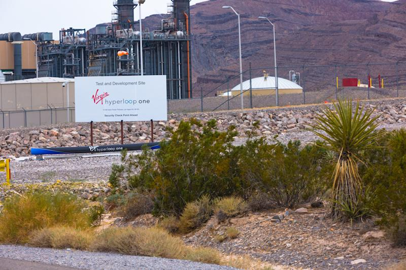 Campo de testes da Virgin Hyperloop One próximo de Las Vegas, nos EUA. Foto: Getty