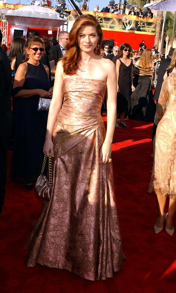 Debra Messing at the 55th Annual Primetime Emmy Awards in Los Angeles on September 21, 2003.
