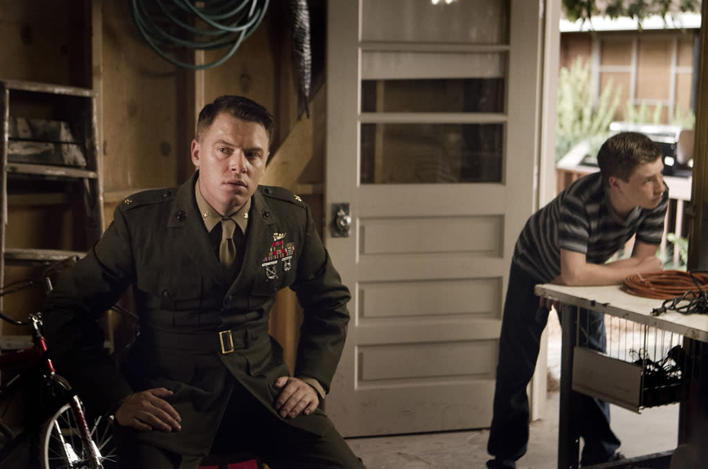 "Diego Klattenhoff as Mike Faber and Jackson Pace as Chris Brody in the ""Homeland"" Season 2 episode, ""A Gettysburg Address."""