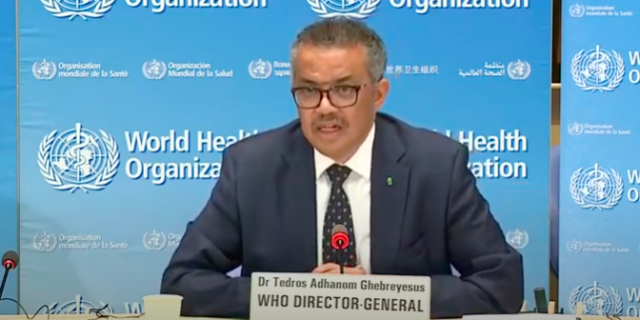 Dr Tedros Adhanom Ghebreyesus defended the UN organisation's response to the outbreak, stating the WHO issued its highest alert when there were only 82 confirmed cases or coronavirus and zero deaths outside China.