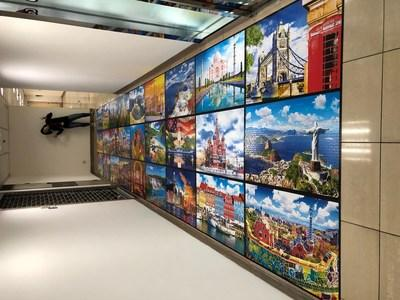 A Completed View of the Kodak Branded World's Largest Puzzle by Cra-Z-Art, Featuring Twenty-Seven Wonders of the World!
