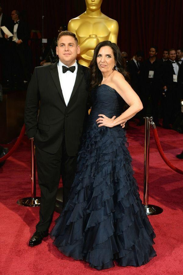 <p>As a first-time Oscar nominee, Jonah brought his good luck charm—mom Sharon Lyn Chalkin—to the 2014 Academy Awards.</p>